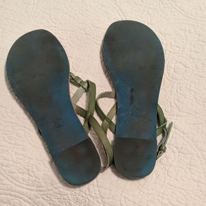 Mossimo Supply Co. Shoes - Green leather thong sandals